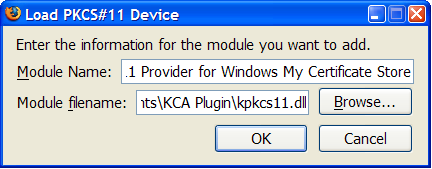 Installing the PKCS #11 Module for Mozilla Products